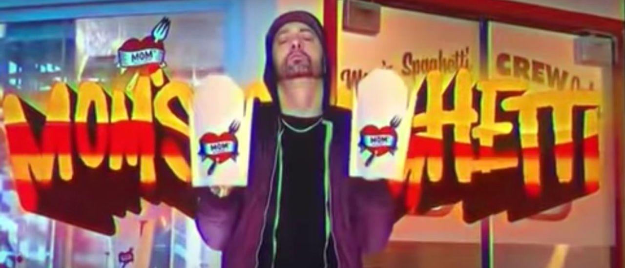 Eminem Stars In Commercial For Mom's Spaghetti In Detroit