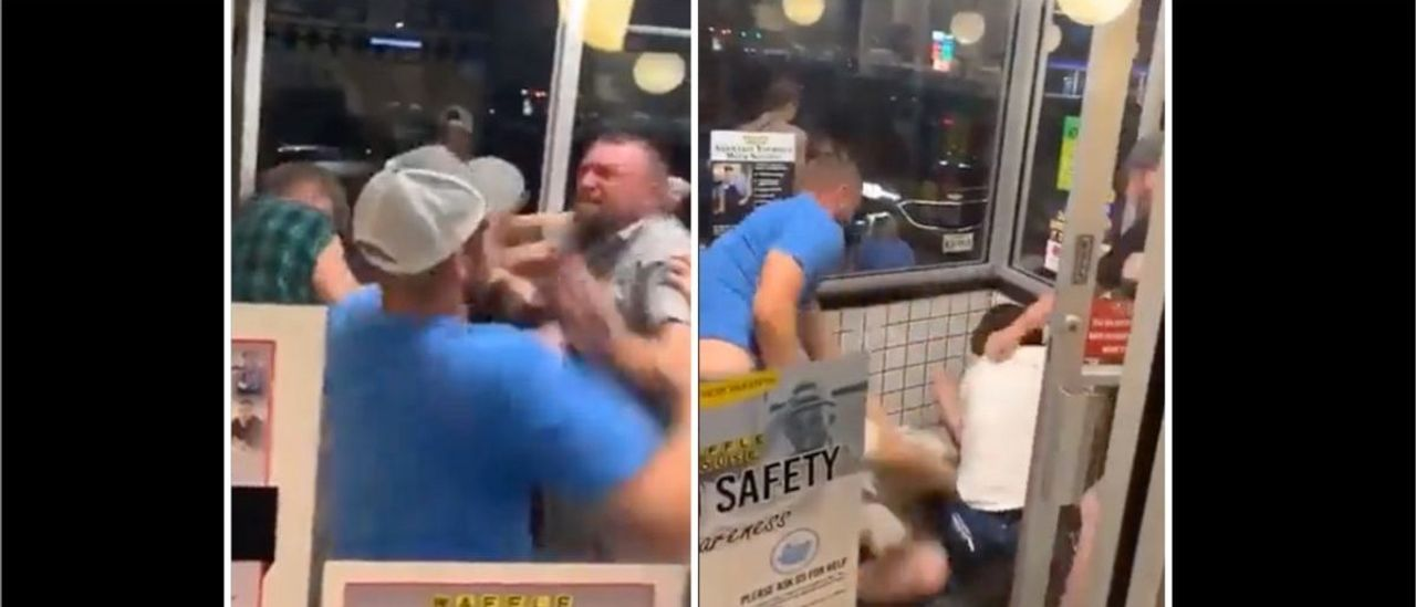 WATCH: Massive Melee Breaks Out In A Waffle House In Crazy Viral Video