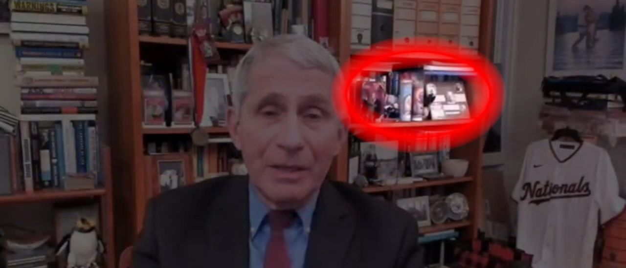 SPOTTED: Dr. Fauci Has Memorabilia Of Himself In His Own Home