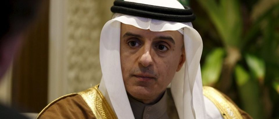 Saudi Arabia's Foreign Minister Adel al-Jubeir attends an interview with Reuters, in Riyadh