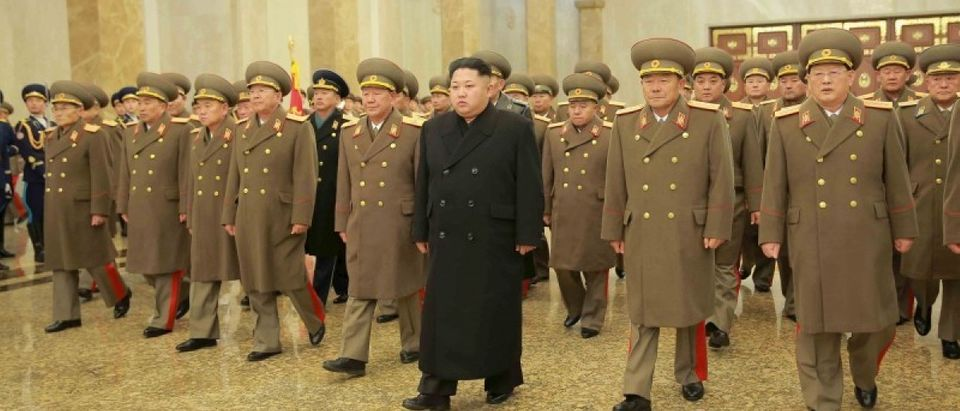 North Korean leader Kim Jong Un visits the Kumsusan Palace of the Sun on a national memorial day in this photo released by North Korea's Korean Central News Agency (KCNA) in Pyongyang December 17, 2015. REUTERS/KCNA