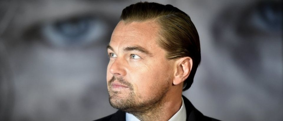 "Actor DiCaprio poses as he arrives for the British premiere of ""The Revenant"", in London, Britain"