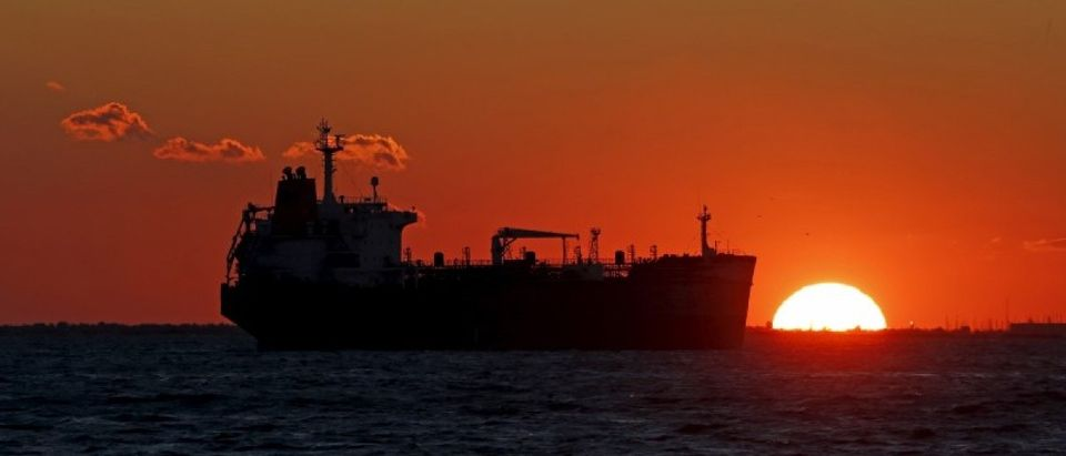 File photo of an oil tanker sitting anchored off the Fos-Lavera oil hub near Marseille
