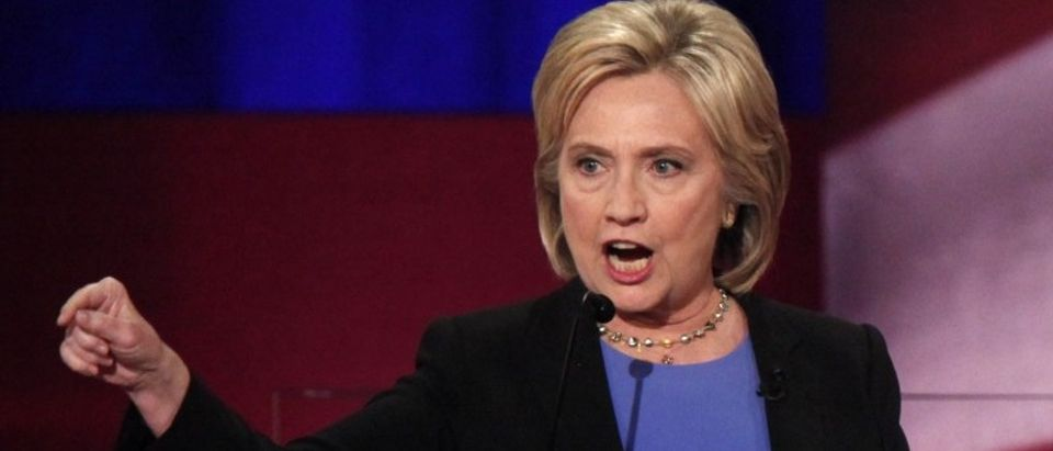 Democratic U.S. presidential candidate former Secretary of State Hillary Clinton speaks at the NBC News - YouTube Democratic presidential candidates debate in Charleston