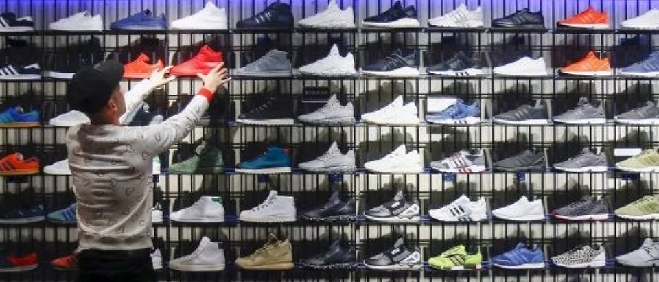 Adidas shoes and more are on sale today for Cyber Monday - January 20, 2016. REUTERS/Hannibal Hanschke