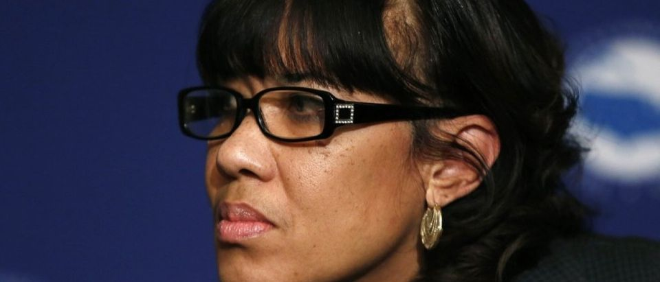 Flint, Michigan Mayor Karen Weaver addresses the media at the opening press conference of the U.S. Conference of Mayors in Washington January 20, 2016. REUTERS/Gary Cameron
