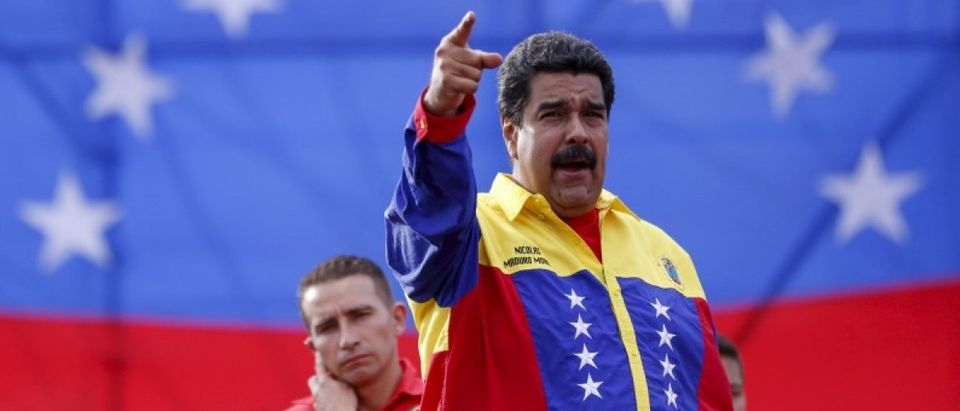 File photo of Venezuela's President Maduro speaking during the last campaign rally with pro-government candidates for the upcoming parliamentary elections in Caracas