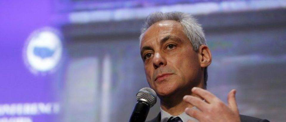 Chicago Mayor Emaunel Emanuel in a panel at the U.S. Conference of Mayors in Washington