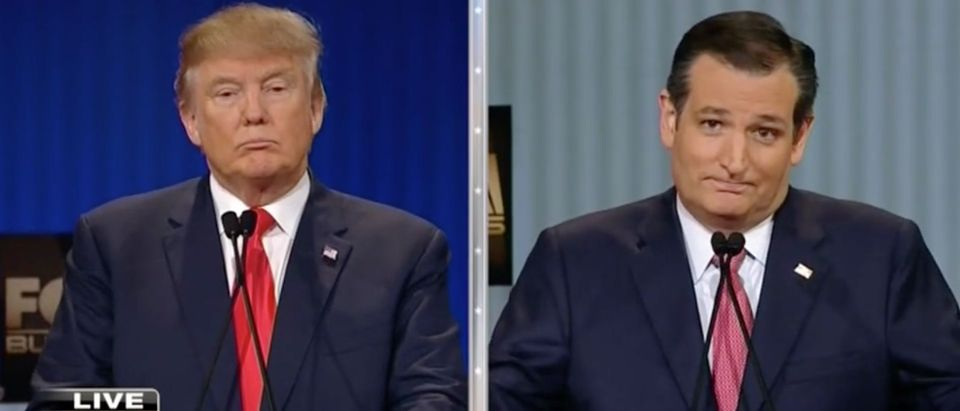 Donald Trump Shuts Down Ted Cruz's Criticism Of His 'New York Values' [screen shot FBN]