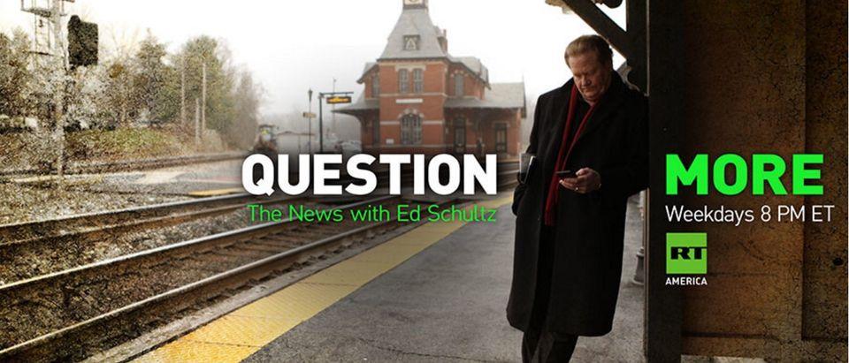 Former MSNBC Host Ed Schultz Works For The Kremlin Now [screen shot RT]