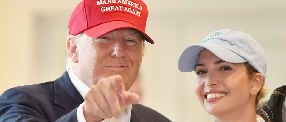 Presidential candidate Donald Trump visits his Scottish golf course Turnberry with his daughter Ivanka Trump