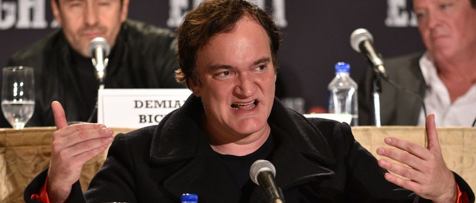 Quentin Tarantino compares the Confederate flag to a swastika. (Photo: Bryan Bedder/Getty Images for The Weinstein Company)