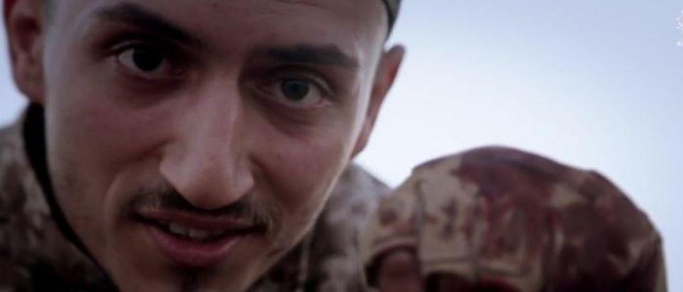 Abu Qital al-Firansi on ISIS video. (Screencapture: Heavy.com)