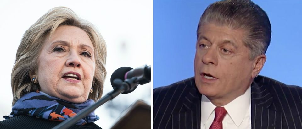 Judge Napolitano 'Hard To Believe That The FBI Will Not Recommend Indictment' For Hillary Clinton [images via Getty Fox News]