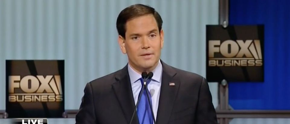 Marco Rubio: Hillary Clinton Is 'Disqualified' From Being President [screen shot FBN]