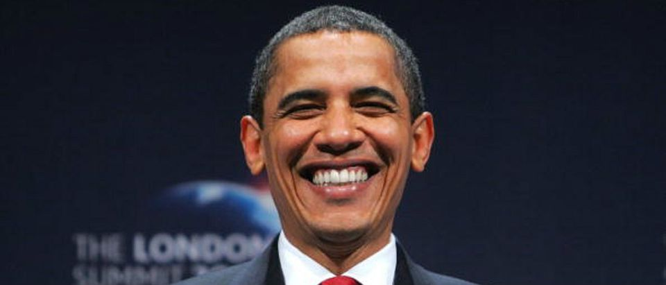 Obama having a grand time AFP/Getty Images