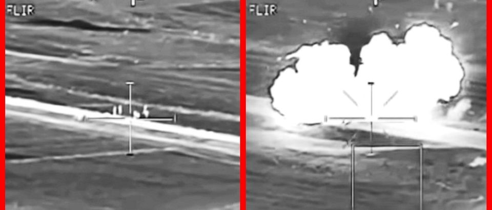 WATCH: Apache Gunner Wipes Out Six Terrorists With A Single, Precision Strike (YouTube)