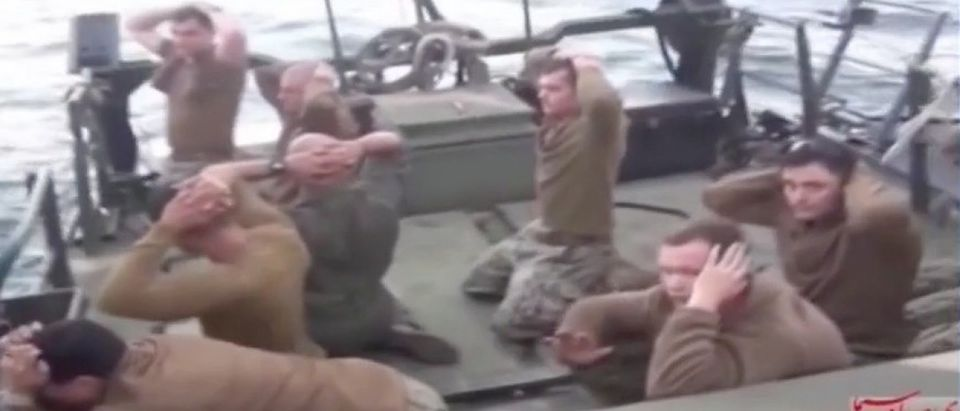 WATCH: Iran Releases Overnight Footage Of Captive US Sailors (screenshot: MSNBC)