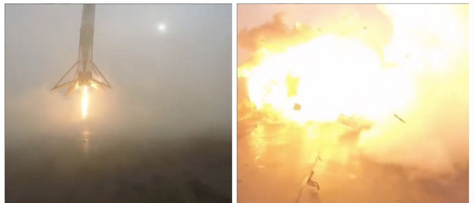 WATCH: Elon Musk's Rocket NAILS Landing (Just Kidding, LOL) (screenshot: Elon Musk Instagram)