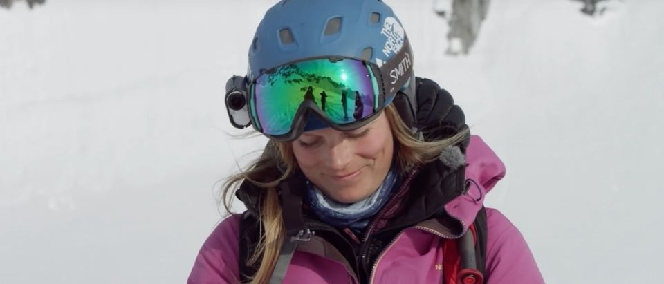 Angel Collinson (Credit: Screenshot/Youtube Teton Gravity Research)