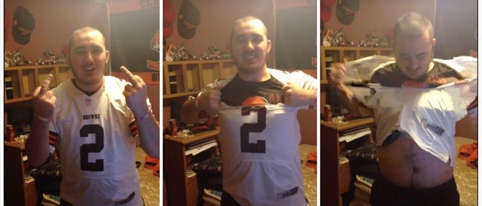Cleveland Browns Fan (Credit: Screenshot/Youtube Michael Kowell)