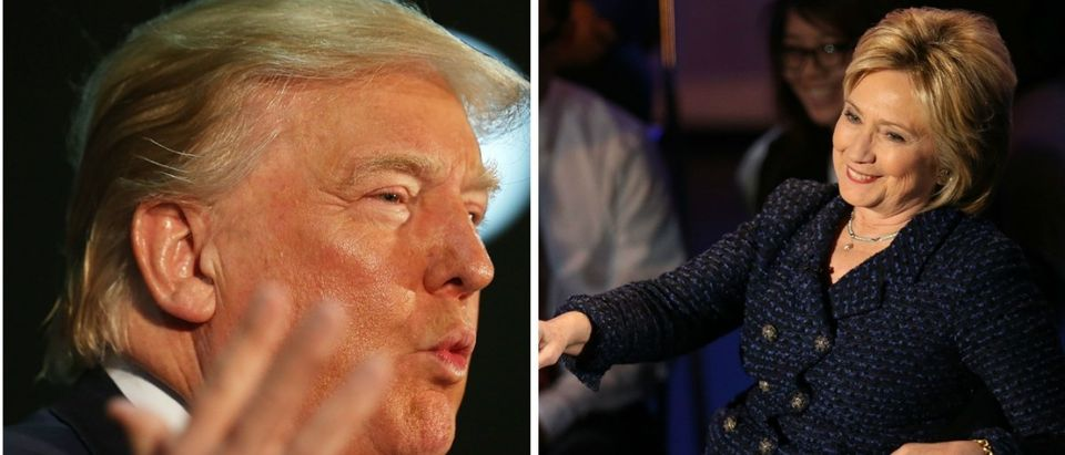 Trump Slams Hillary Clinton For Wanting To Use Powerball Winnings To Fund Her Campaign [images via Getty]