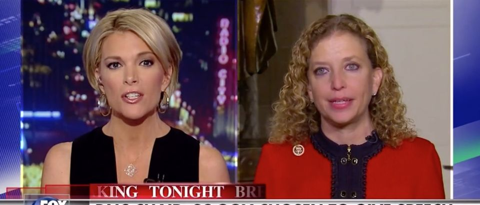 Watch Megyn Kelly Eviscerate DNC Chair Debbie Wasserman Schultz [screen shot Fox News]
