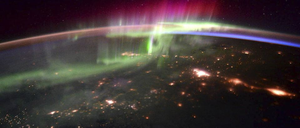 NASA handout of the dancing lights of the Aurora Borealis taken from the International Space Station