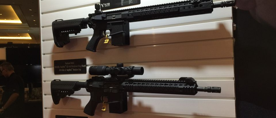 Guns presented by vendors at Shot Show 2016