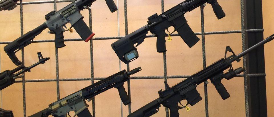 Vendors display latest gun line at SHOT Show 2016 (Photo Credit: Kerry Picket)
