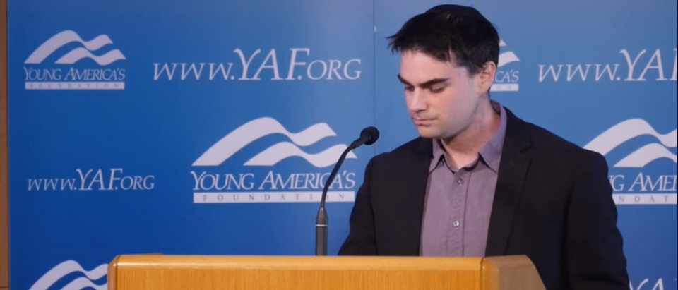 Ben Shapiro speaks at the Reagan Ranch (Photo credit: YouTube/YAFTV)