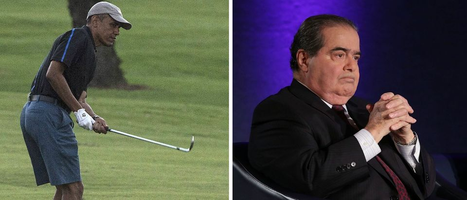 Barack Obama, Antonin Scalia, [images via Getty]