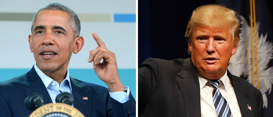 Barack Obama, Donald Trump [images via Getty]
