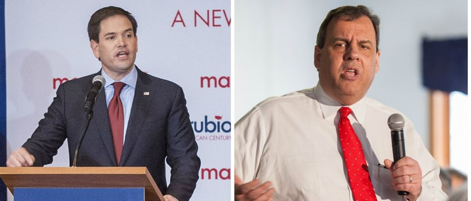 Christie Claims Rubio Is 'The Boy In The Bubble' [images via Getty]