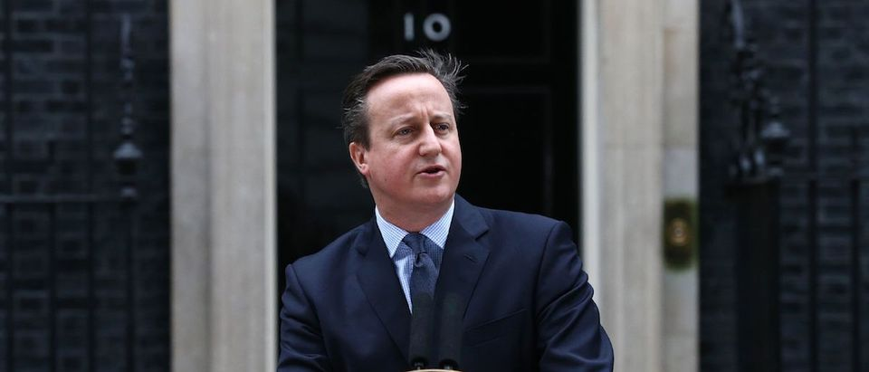 """Prime Minister David Cameron takes a deal giving Britain """"special status"""" in the EU back to London on February 20 hoping it will be enough to keep his country in the bloc as campaigning begins for a crucial in-out referendum. The prime minister announced that the referendum would be held on June 23. / AFP / JUSTIN TALLIS Photo credit should read JUSTIN TALLIS/AFP/Getty Images)"""