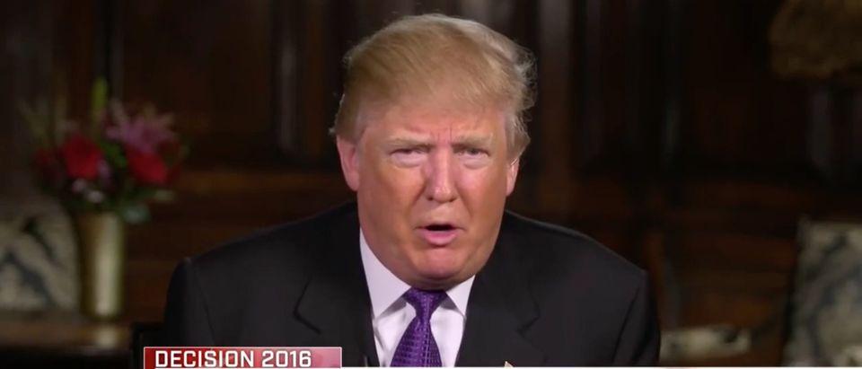 Donald Trump, screen shot NBC 'Meet the Press'