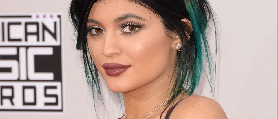 Kylie Jenner wears lace bodysuit