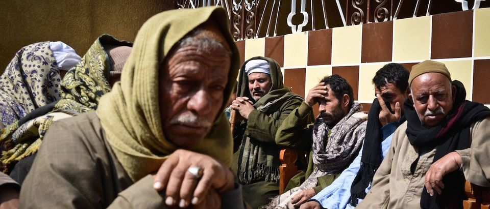 Relatives of Egyptian Coptic Christians purportedly murdered by Islamic State (IS) group militants in Libya react after hearing the news on February 16, 2015 in the village of Al-Awar in Egypt's southern province of Minya. (MOHAMED EL-SHAHED/AFP/Getty Images)