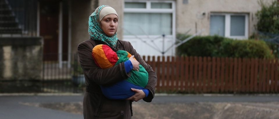 Syrian refugee families arrive at their new homes on the Isle of Bute on December 3, 2015 in Rothesay, Isle of Bute, Scotland. (Getty Images)