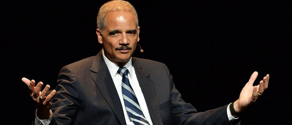 Eric Holder, Former U.S. Attorney General attends the 2016 'Tina Brown Live Media's American Justice Summit' at Gerald W. Lynch Theatre on January 29, 2016 in New York City. (Photo by Slaven Vlasic/Getty Images)