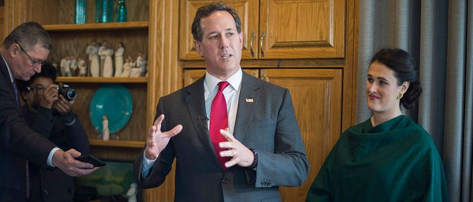 Santorum Drops Out, Teases Presidential Endorsement (Getty Images)