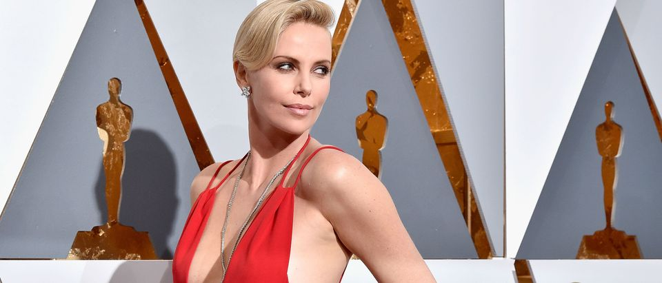 Charlize Theron's Oscars dress