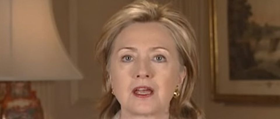 Hillary Clinton, Screen shot Department of State, YouTube 2-29-2016