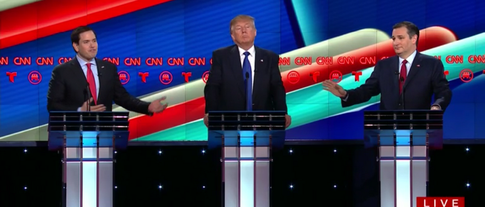 CNN Republican Debate (screencap)