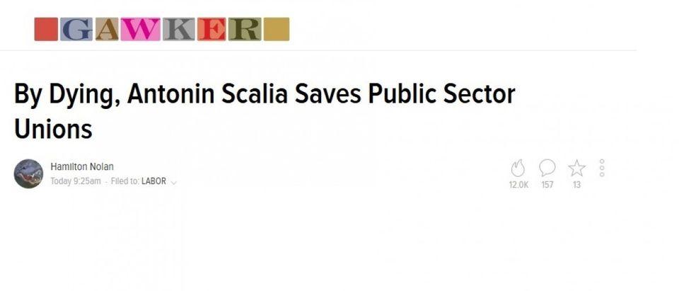 Gawker Gawker Headline After Scalia Died
