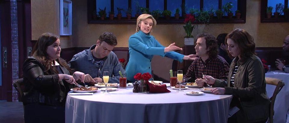 SNL Mocks Hillary Clinton In Cold Open, screen shot SNL YouTube