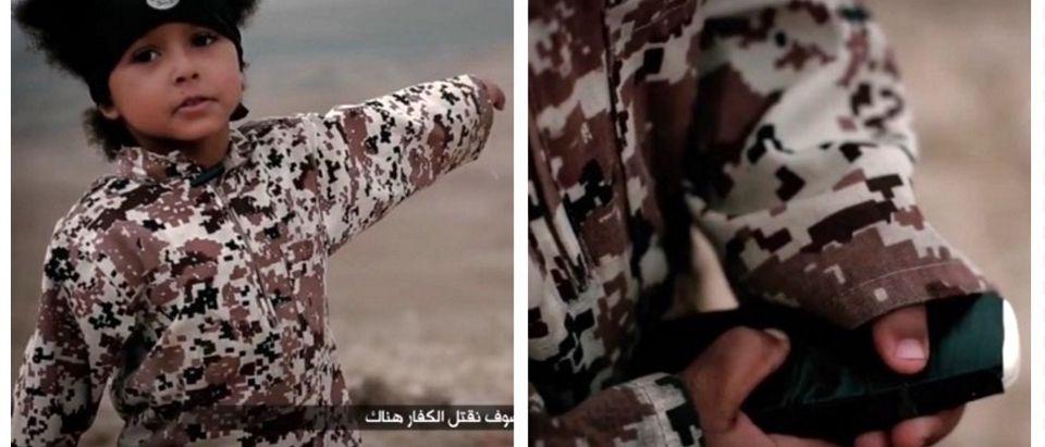GRAPHIC -- 4-Year-Old 'Jihadi Junior' Executes Non-Believers With Car Bomb (screenshot: Video)