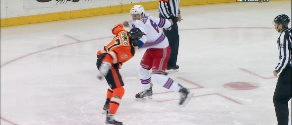 Simmonds Fight (Credit: Screenshot/Youtube SPORTSNETCANADA)