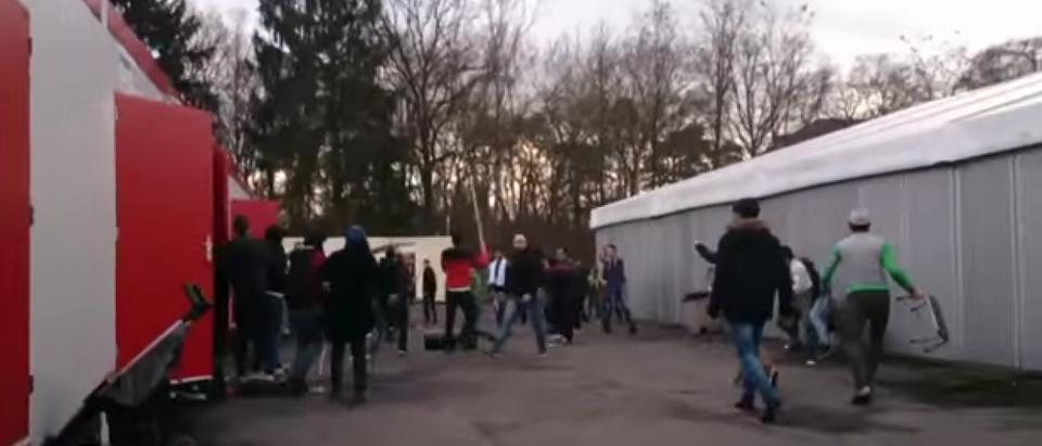 Refugee riot
