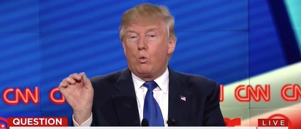 Screen Shot Donald Trump, CNN, 2-25-2016